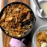 Grilled Cranberry Pear Crumble