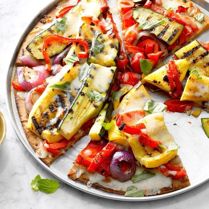 Grilled Garden Veggie Pizza