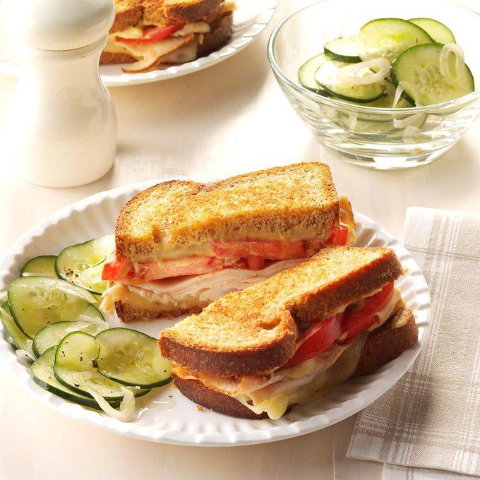 Day 5 Lunch: Grilled Hummus Turkey Sandwich