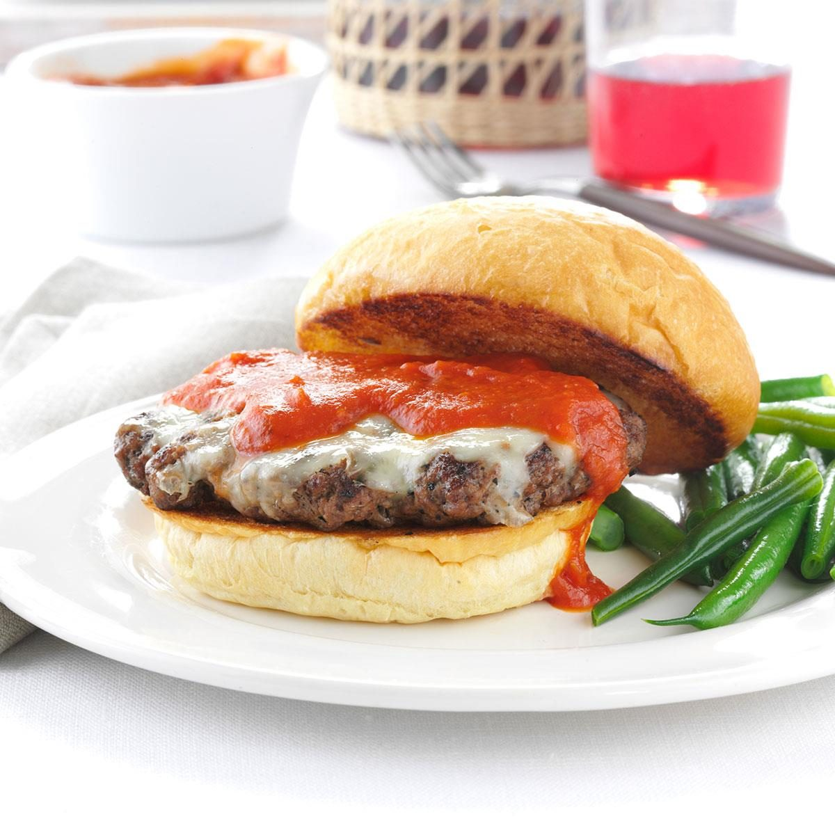 Grilled Italian Burgers