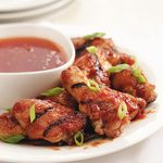 Grilled Peach BBQ Chicken Wings