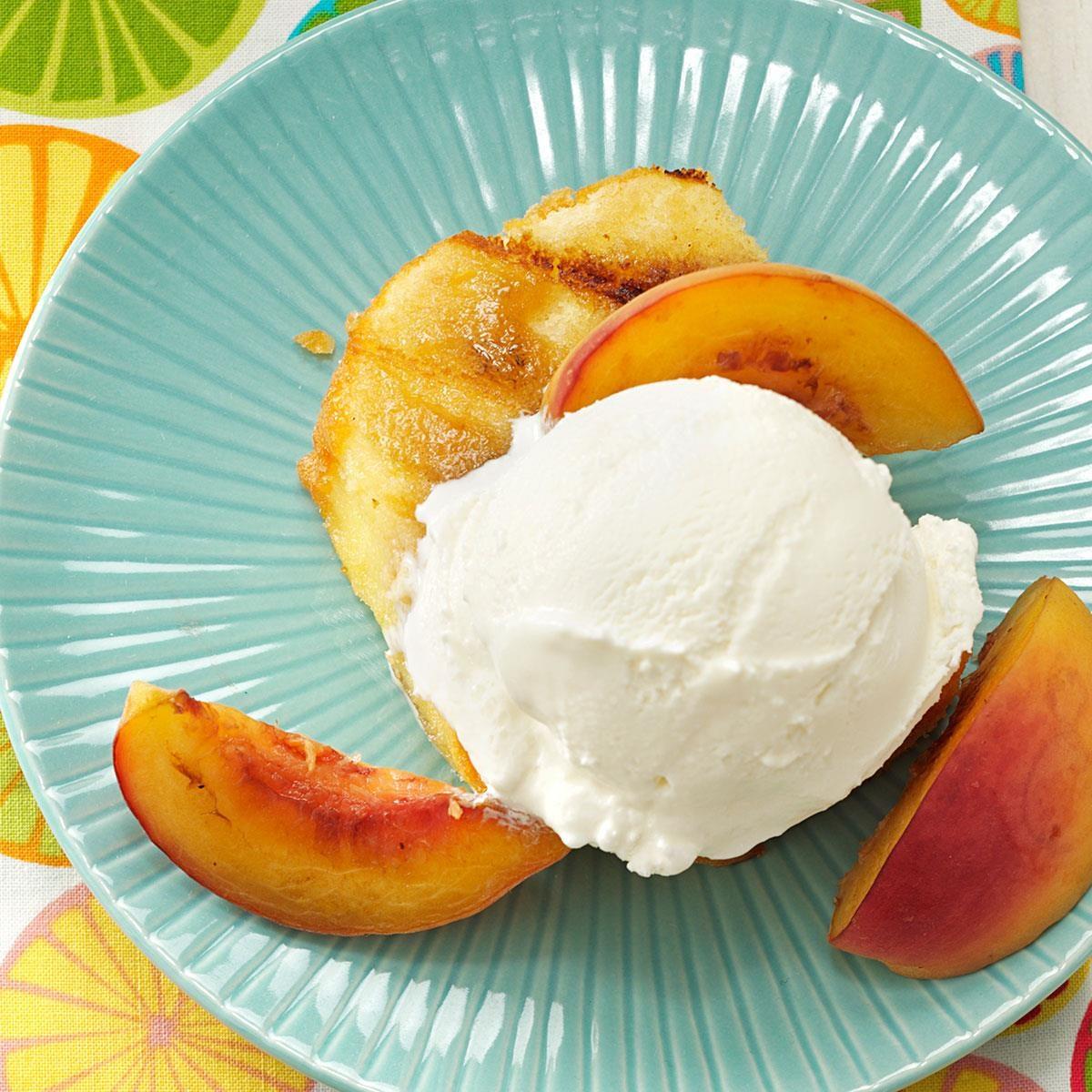 Grilled Peaches & Pound Cake