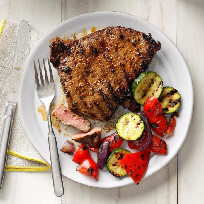 Day 11: Grilled Peppered Steaks