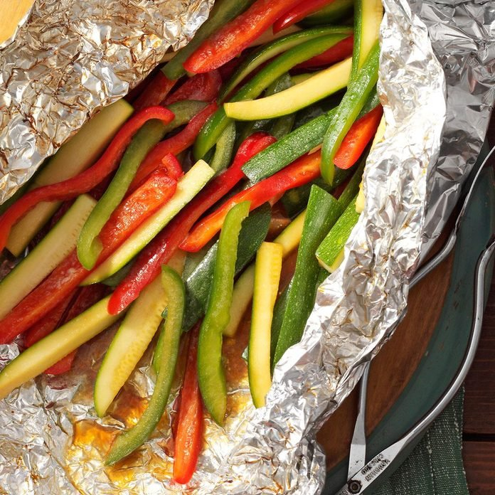 Quick & Easy: Grilled Peppers and Zucchini
