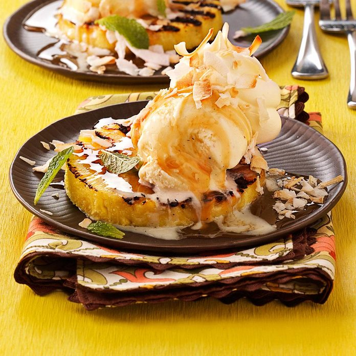 Grilled Pineapple Sundaes