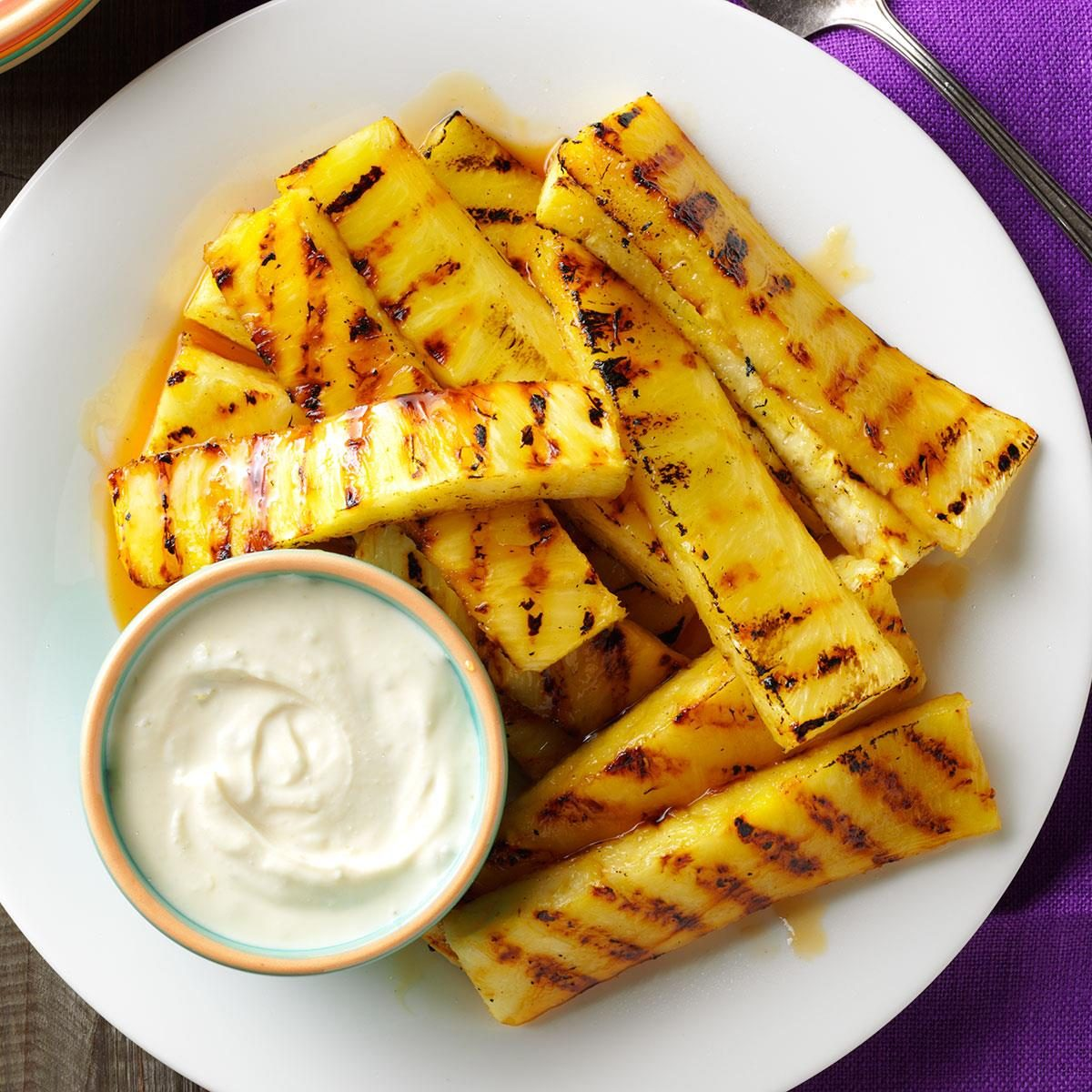 Grilled Pineapple with Lime Dip