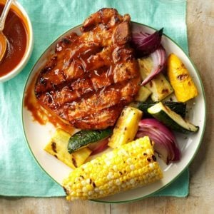 Grilled Pork Chops with Smokin' Sauce