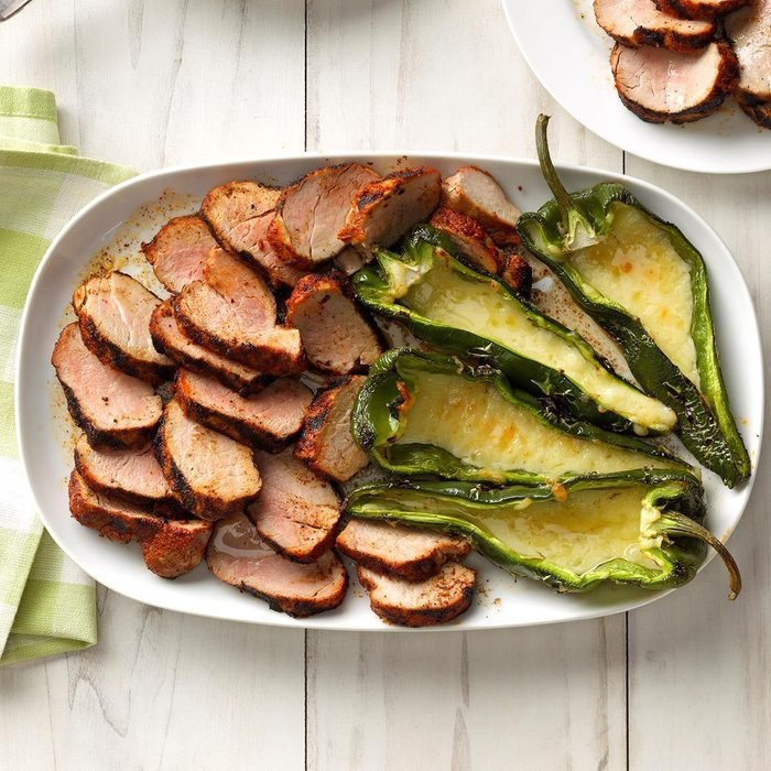 Day 13: Grilled Pork and Poblano Peppers