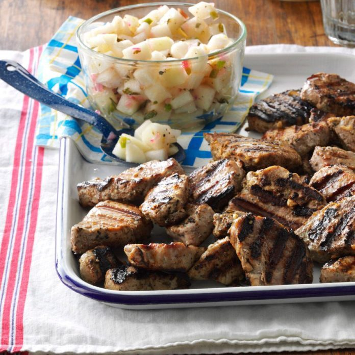 Grilled Pork with Pear Salsa