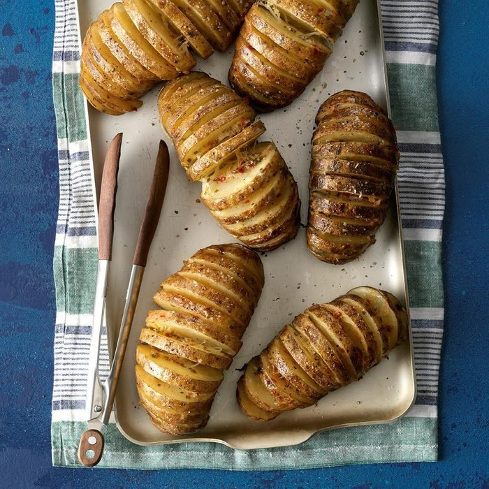 Grilled Potato Fans with Onions