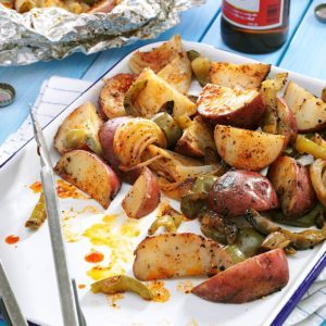 Grilled Potatoes & Peppers