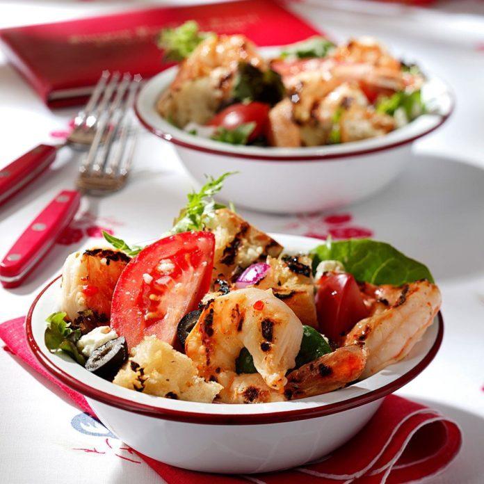 Grilled Shrimp Panzanella