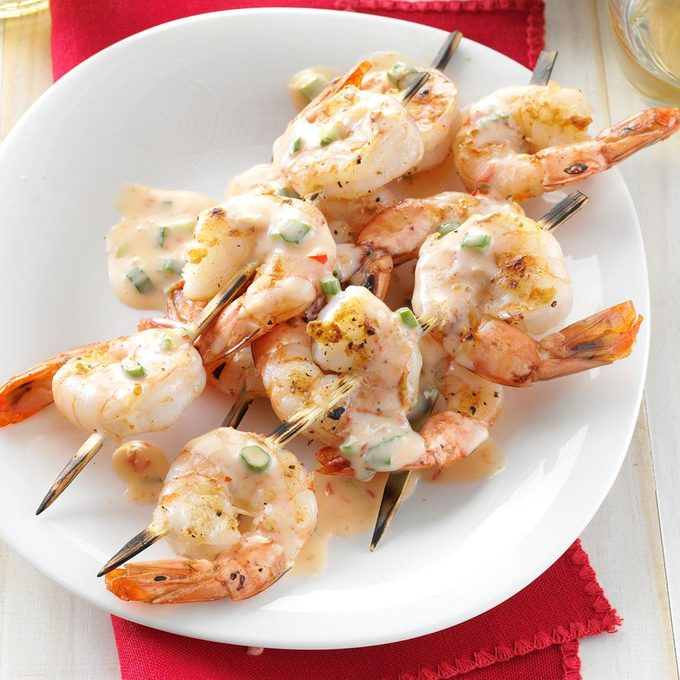 Grilled Shrimp With Spicy Sweet Sauce Exps165905 Thhcd01 08 5bc Rms 2