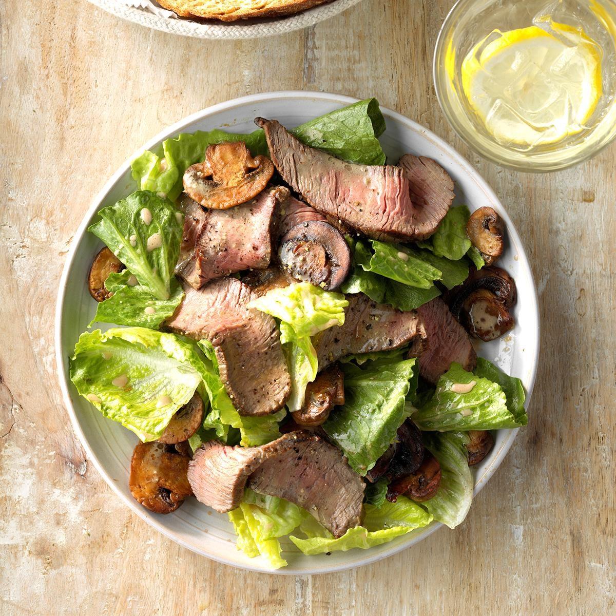 Grilled Steak and Mushroom Salad