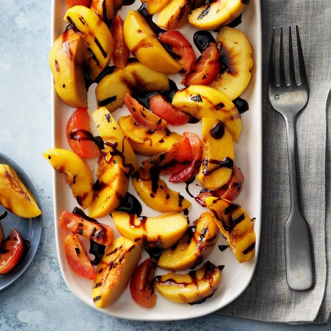 Grilled Stone Fruits With Balsamic Syrup Exps Fttmz20 146169 E03 05 2b