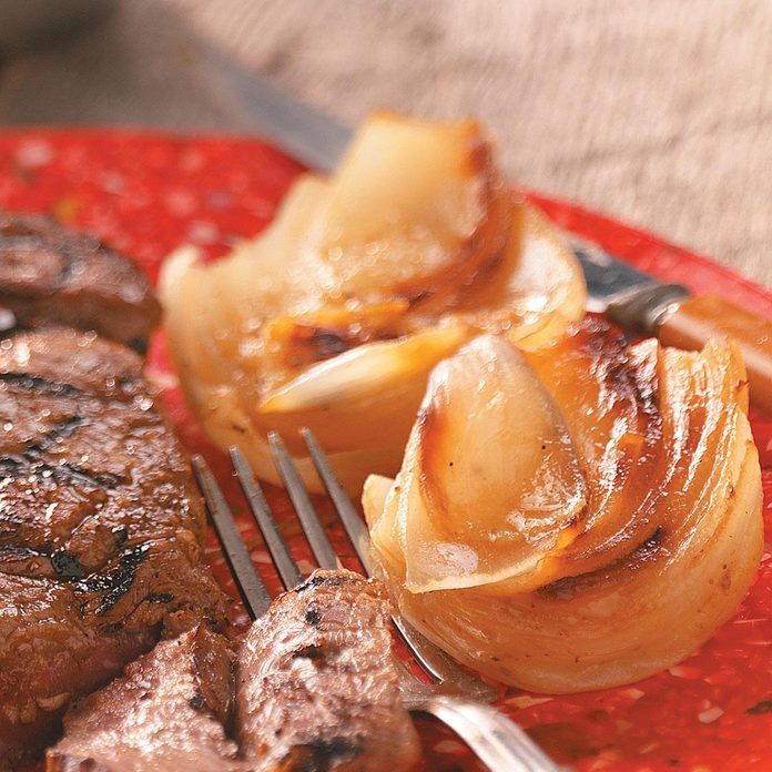 Grilled Sweet Onions with Garlic