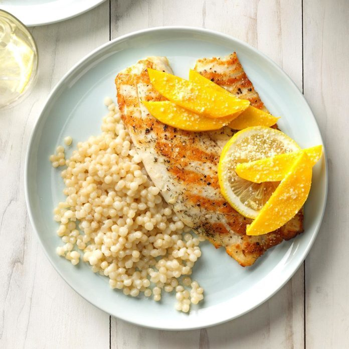 Grilled Tilapia with Mango