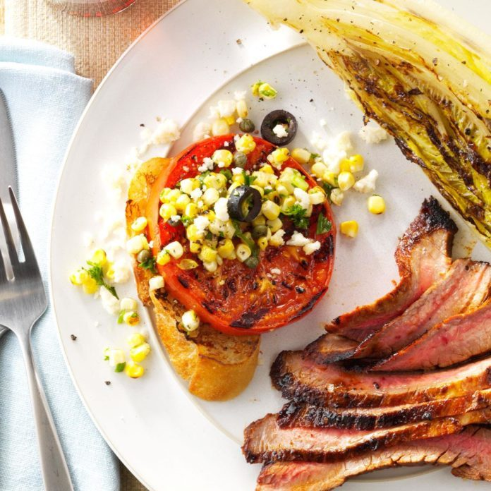 Grilled Tomato with Fresh Corn