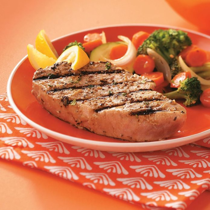 Grilled Tuna Steaks for Two