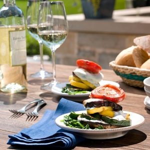 Grilled Vegetable and Goat Cheese Napoleons