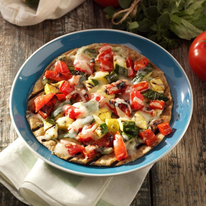 Grilled Veggie Tortillas for Two