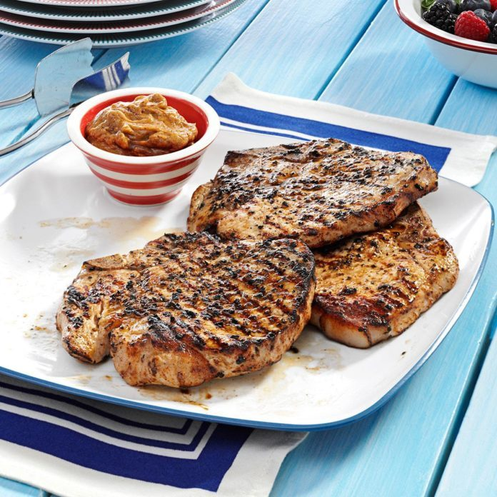 Grilled Whiskey Chops