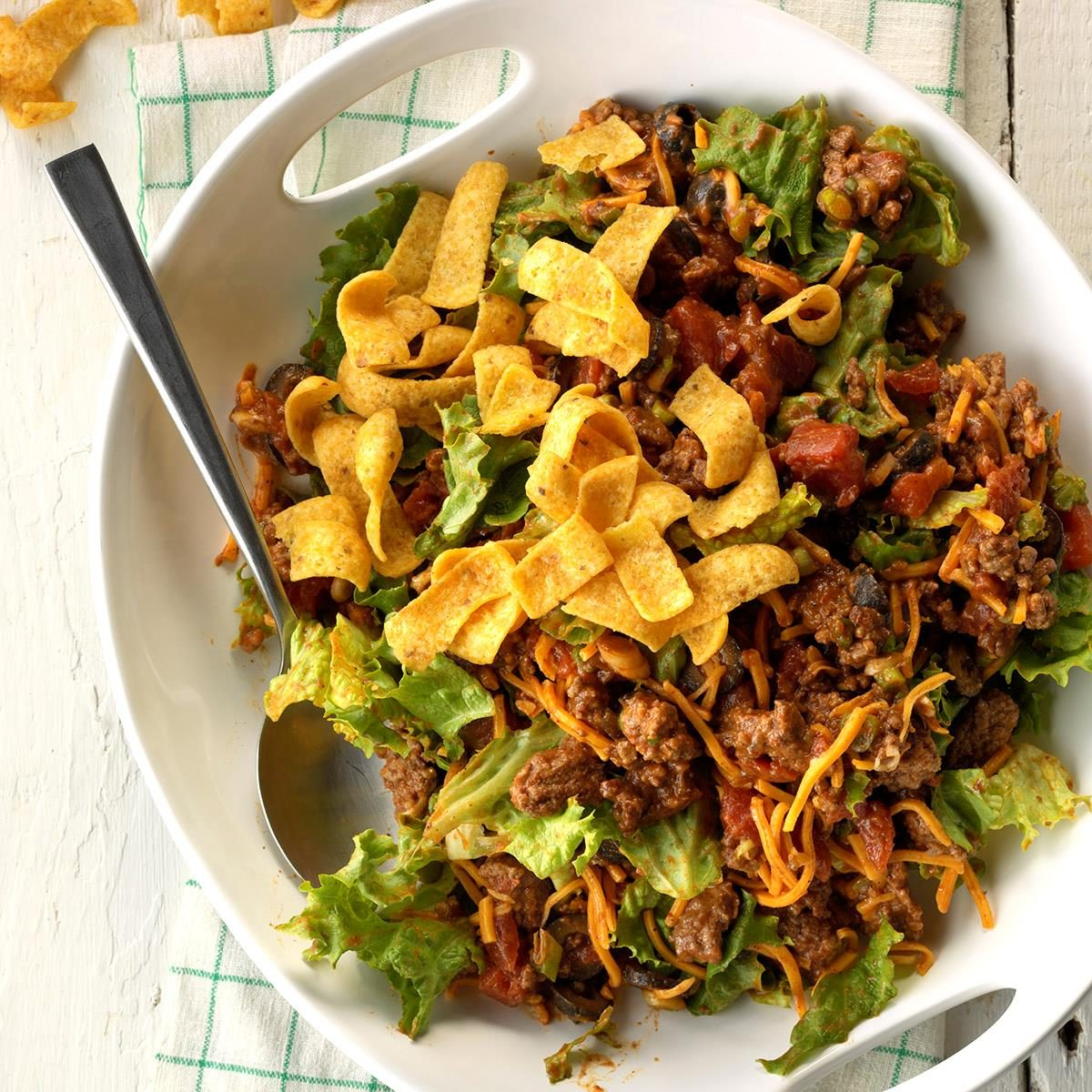Day 5 Lunch: Ground Beef Taco Salad