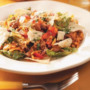 Ground Pork Taco Salad