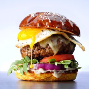 Gruyere and Egg Burgers