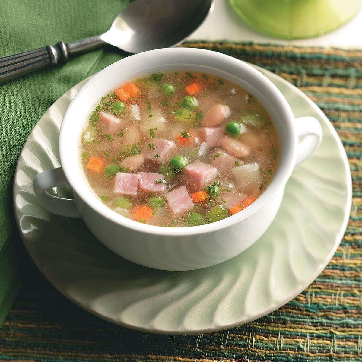 Ham, Bean and Potato Soup