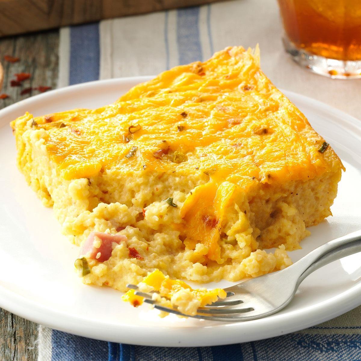 Ham & Cheese Grits Casserole