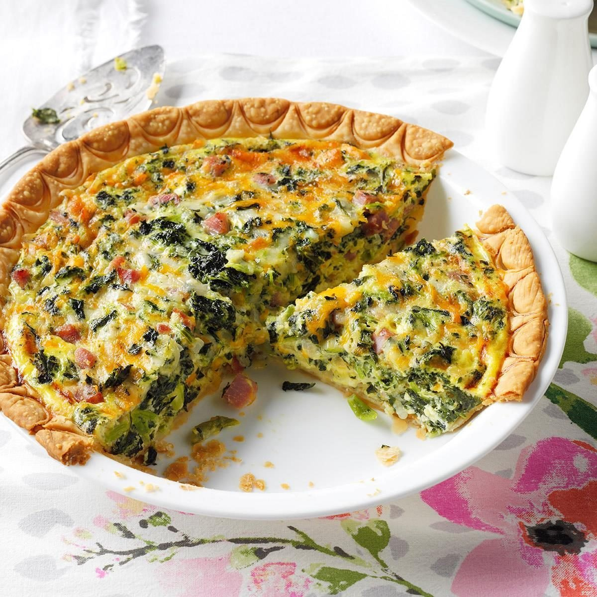Ham & Collards Quiche