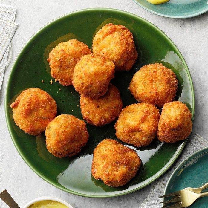 Ham Croquettes with Mustard Sauce