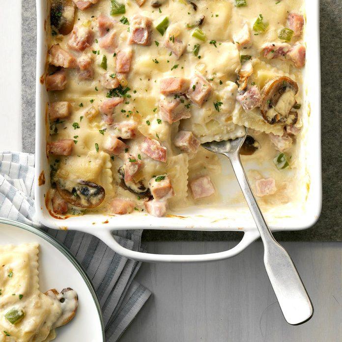 Ham Ravioli Bake