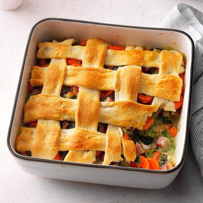 Make: Ham & Spinach Casserole