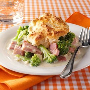 Ham and Broccoli Biscuit Bake