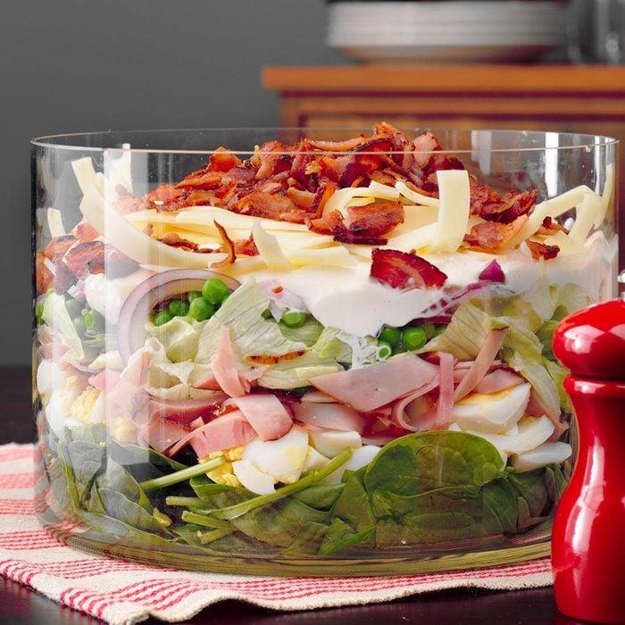 Ham and Swiss Layered Salad