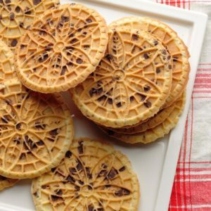 Hazelnut Chocolate Chip Pizzelle