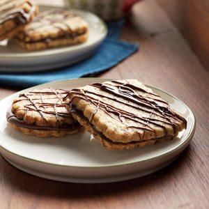 Hazelnut-Espresso Sandwich Cookies