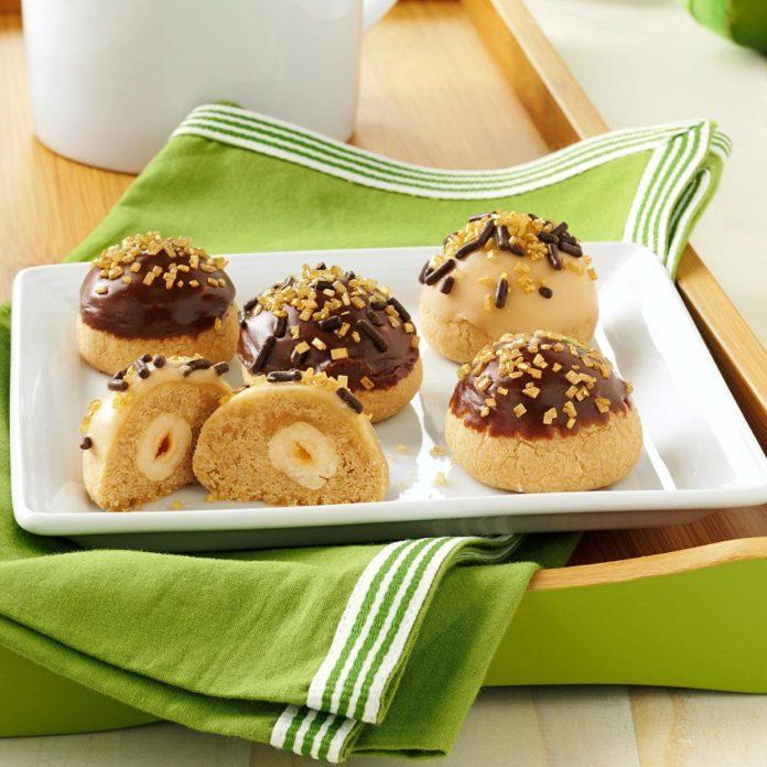 Hazelnut-Mocha Bonbon Cookies