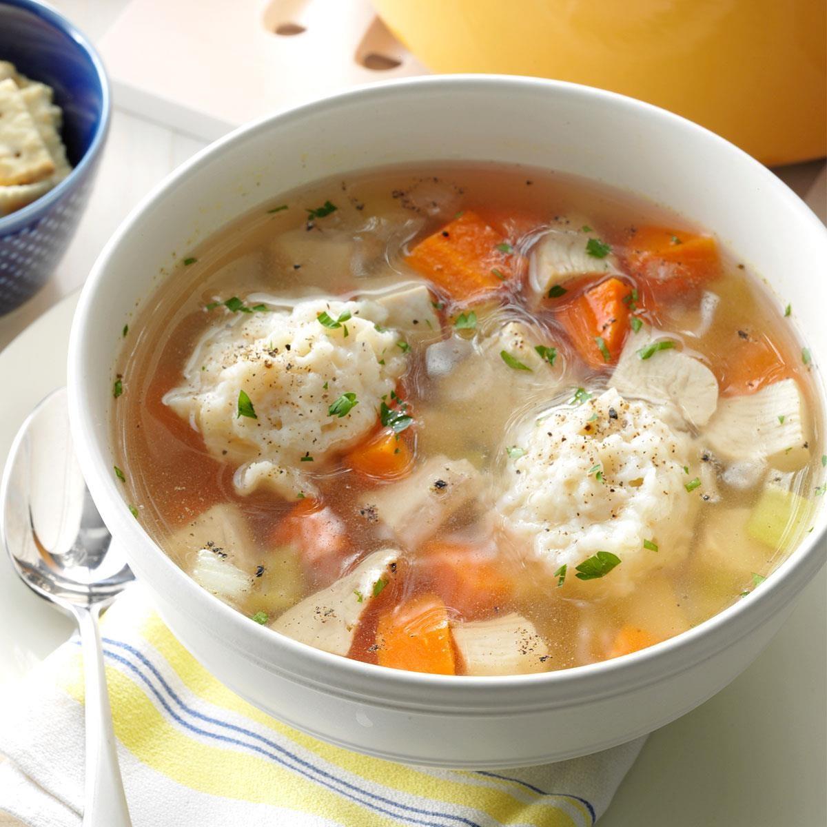 Healthy Chicken Dumpling Soup