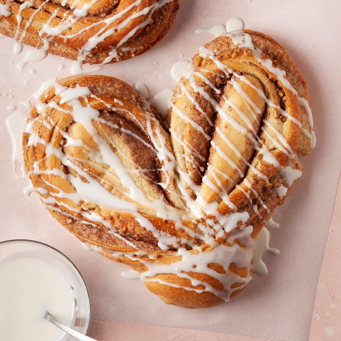 Heart-Shaped Cinnamon Coffee Cakes