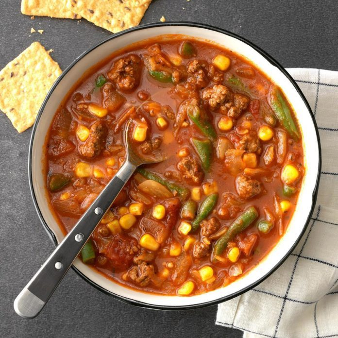 Hearty Beef Veggie Soup