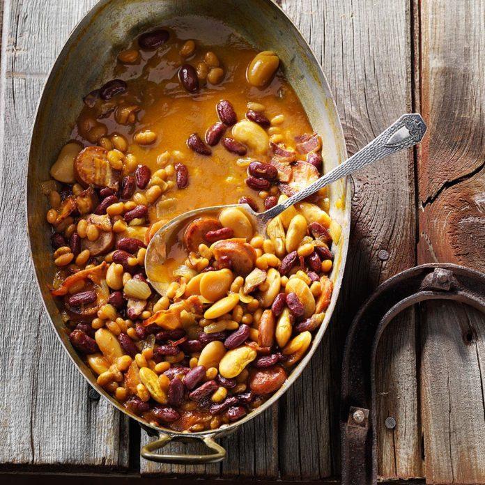 Hearty Maple Beans with Kielbasa