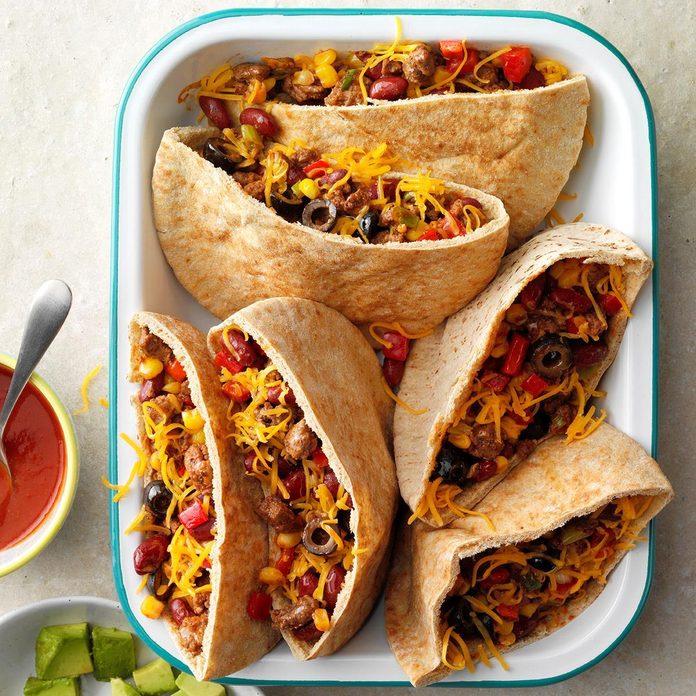 Hearty Pita Tacos
