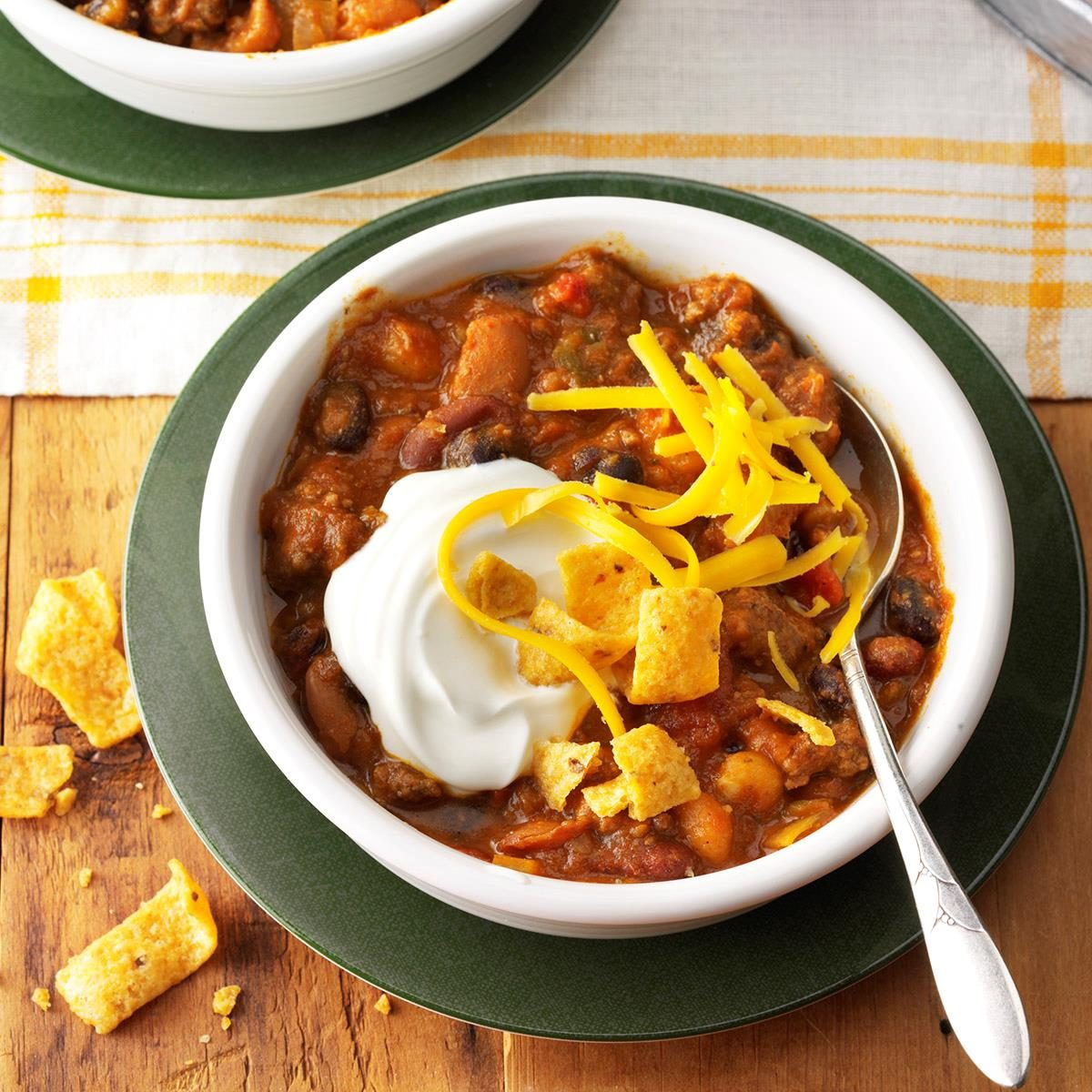 Hearty Taco Chili Recipe How To Make It Taste Of Home