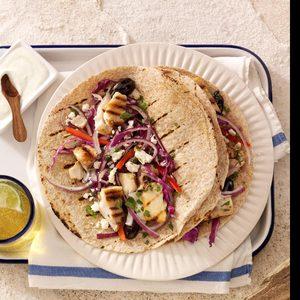Heavenly Greek Tacos