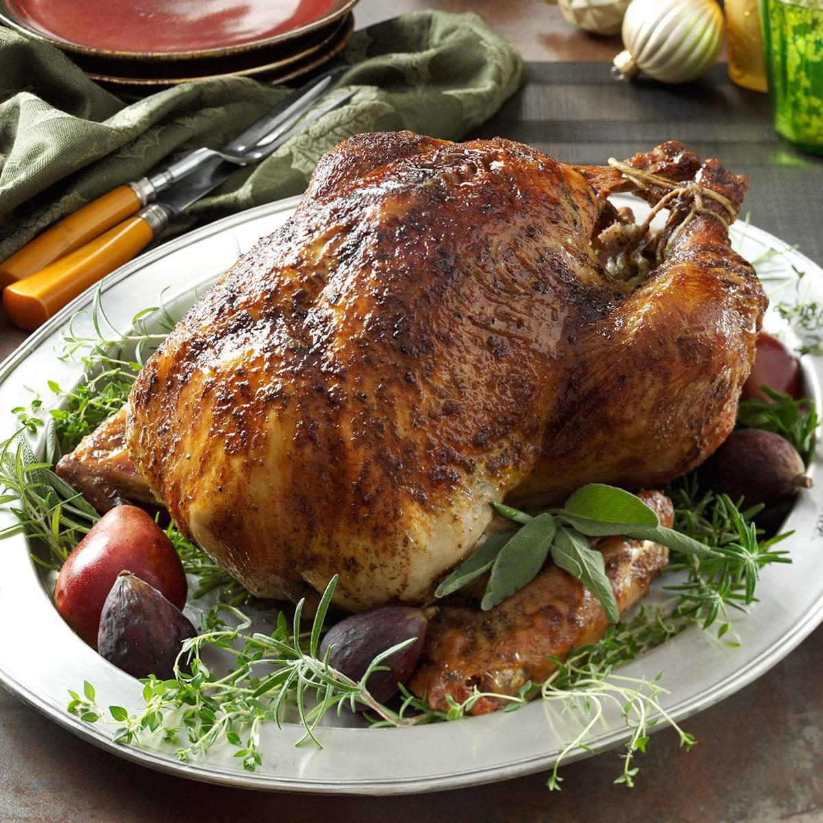 Herb brined turkey