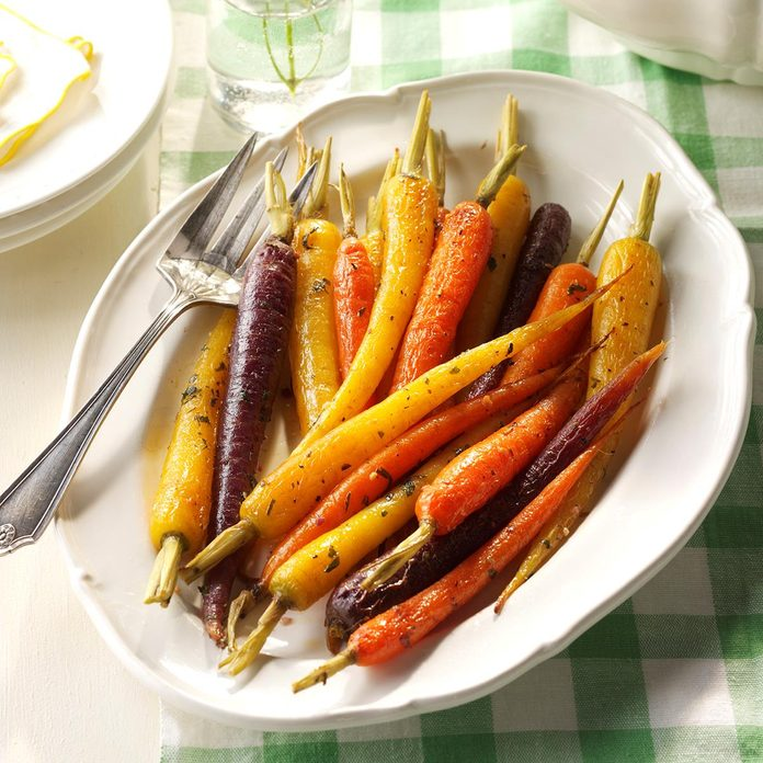 Herb-Buttered Baby Carrots