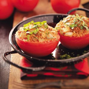 Herb-Topped Stuffed Tomatoes